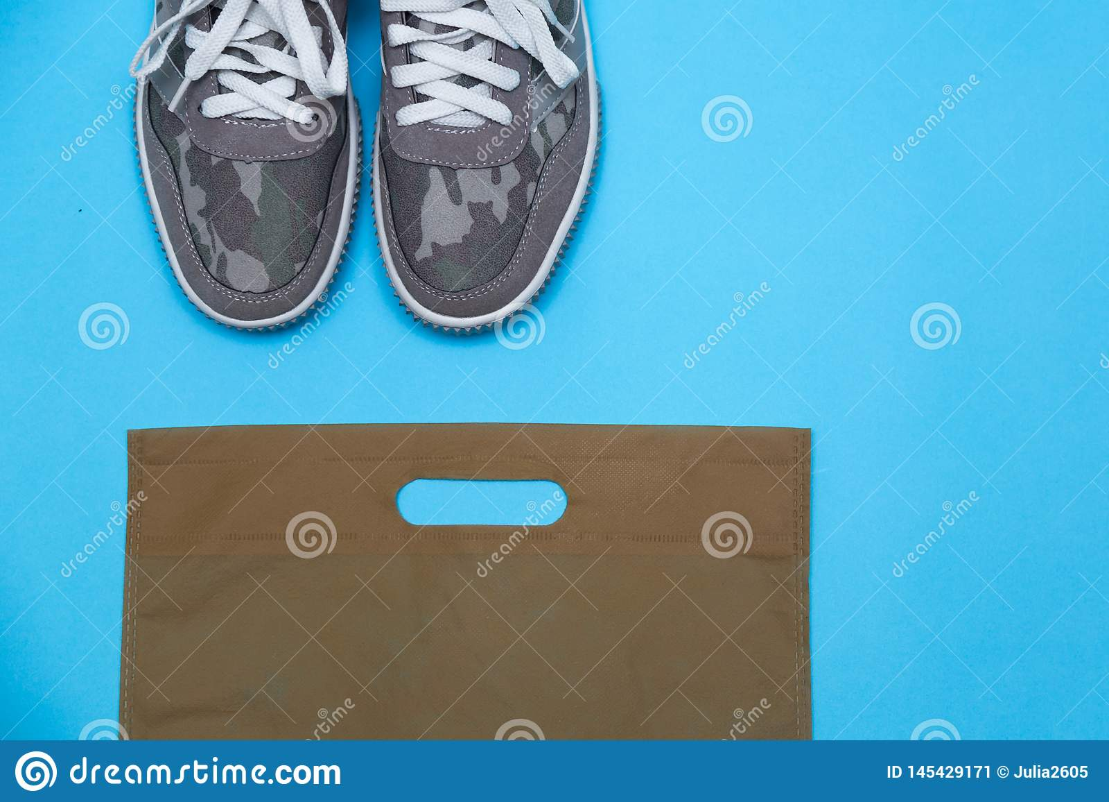 Khaki color sneakers