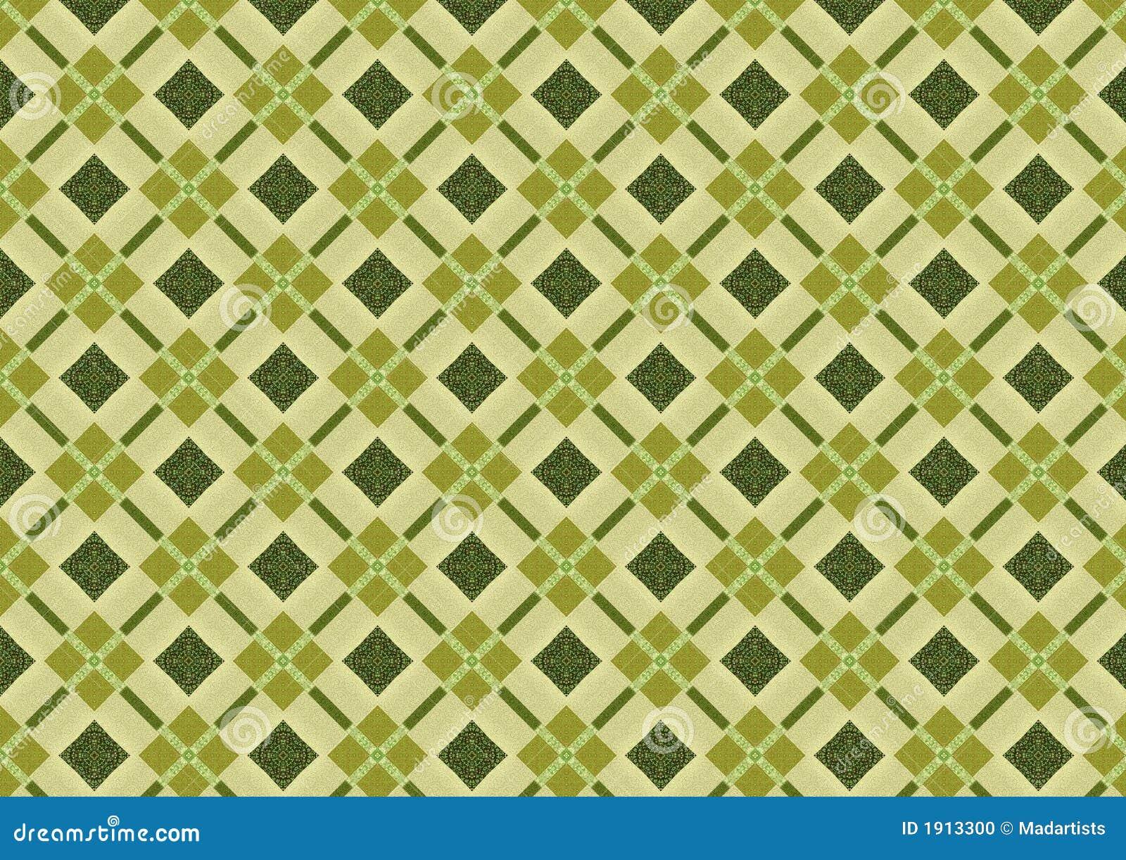 Khaki Green Diamond Pattern