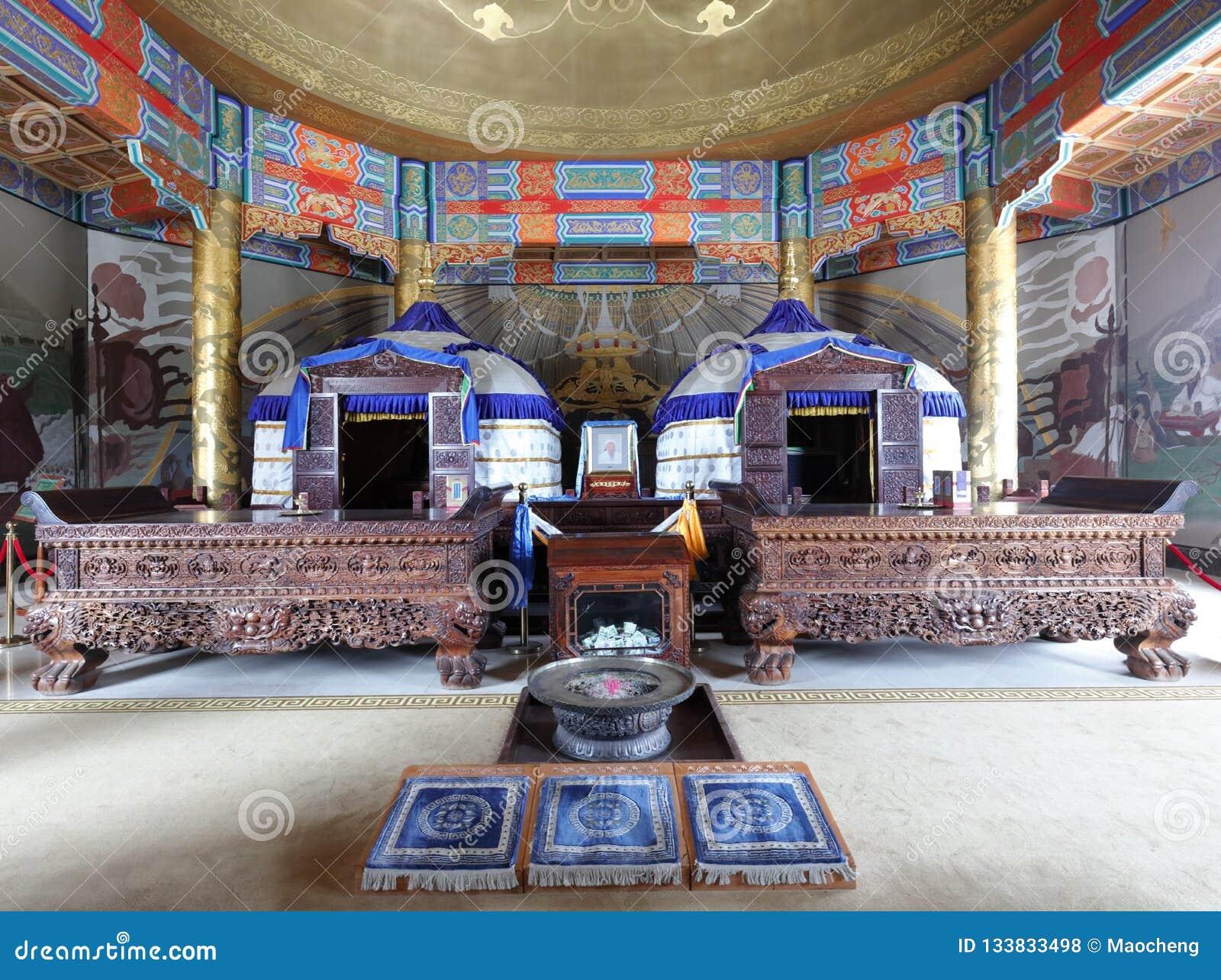 Khan μαυσωλείο Genghis μέσα, πλίθα rgb