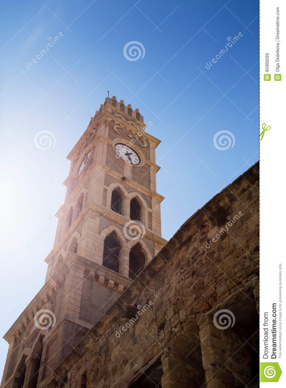 Ancient Arabic Watch Tower Stock Photography