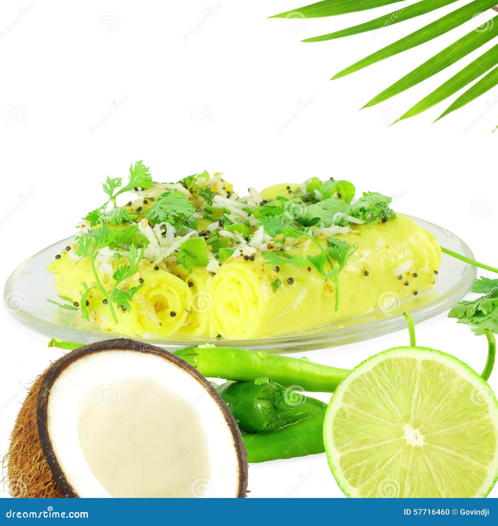 Khandvi Gram Flour Snack traditional Indian food