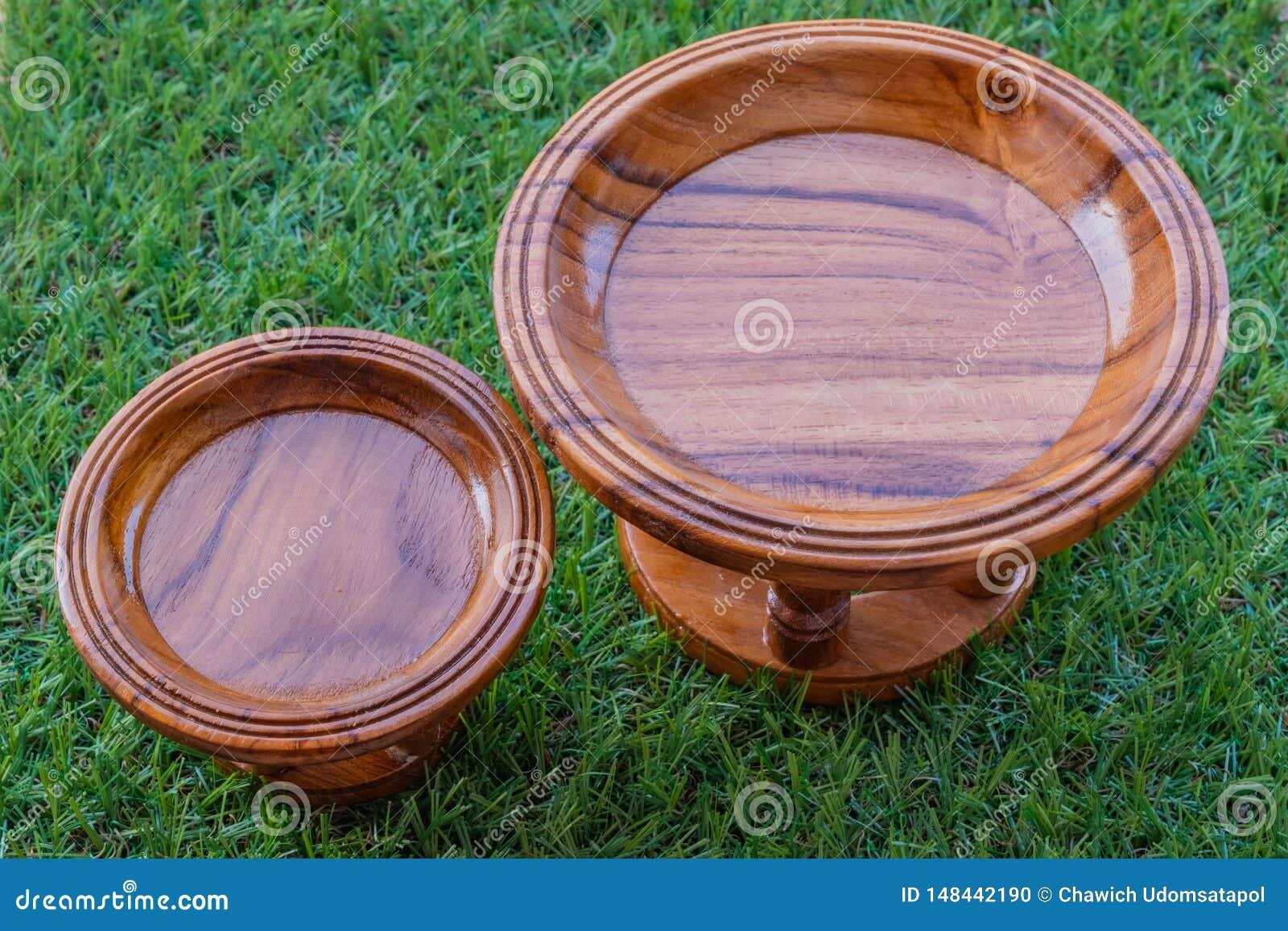Khantoke un genre d ustensile en bois en Tha?lande du nord
