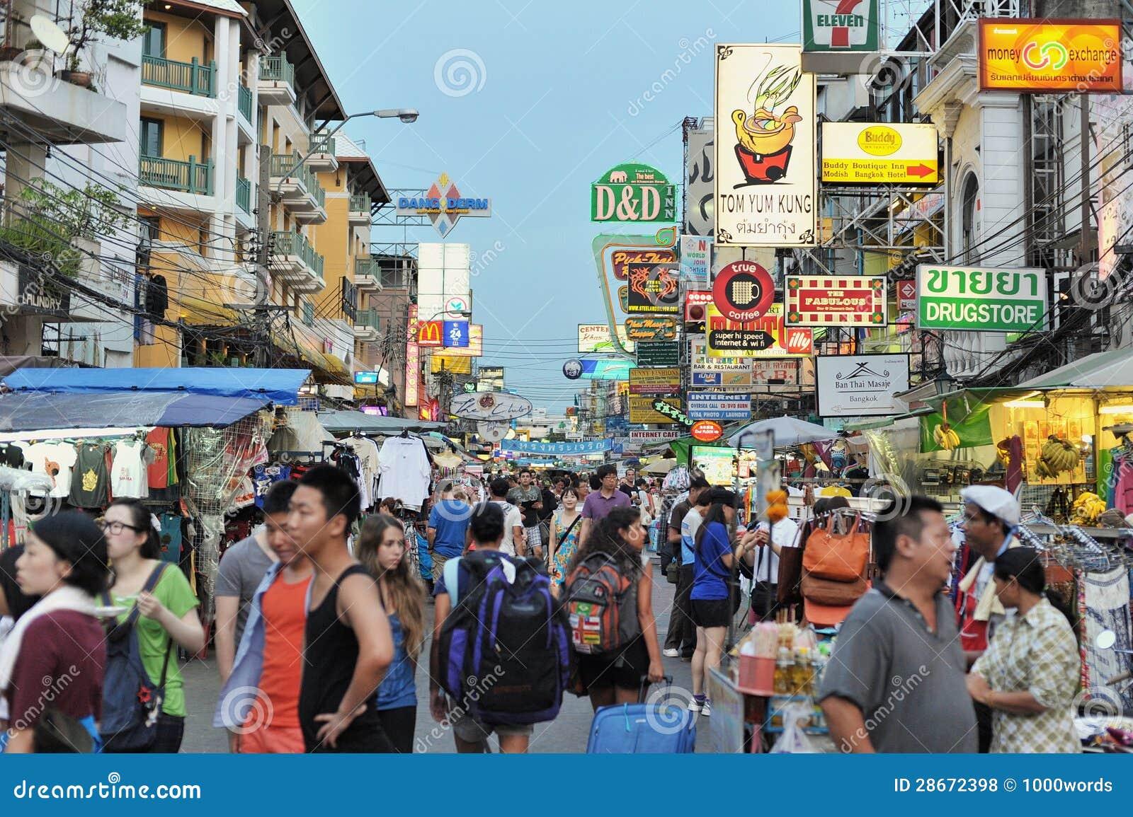 Khao San Straße in Bangkok