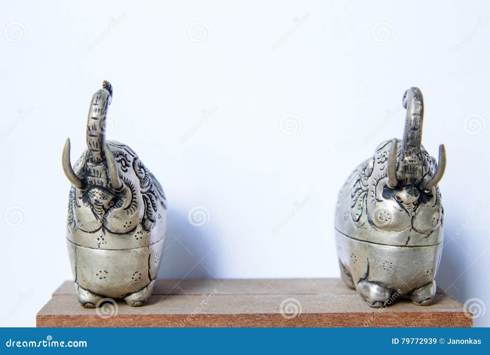 Khmer silver elephant shaped box the elephant raised trunksymbol royalty free stock photo biocorpaavc