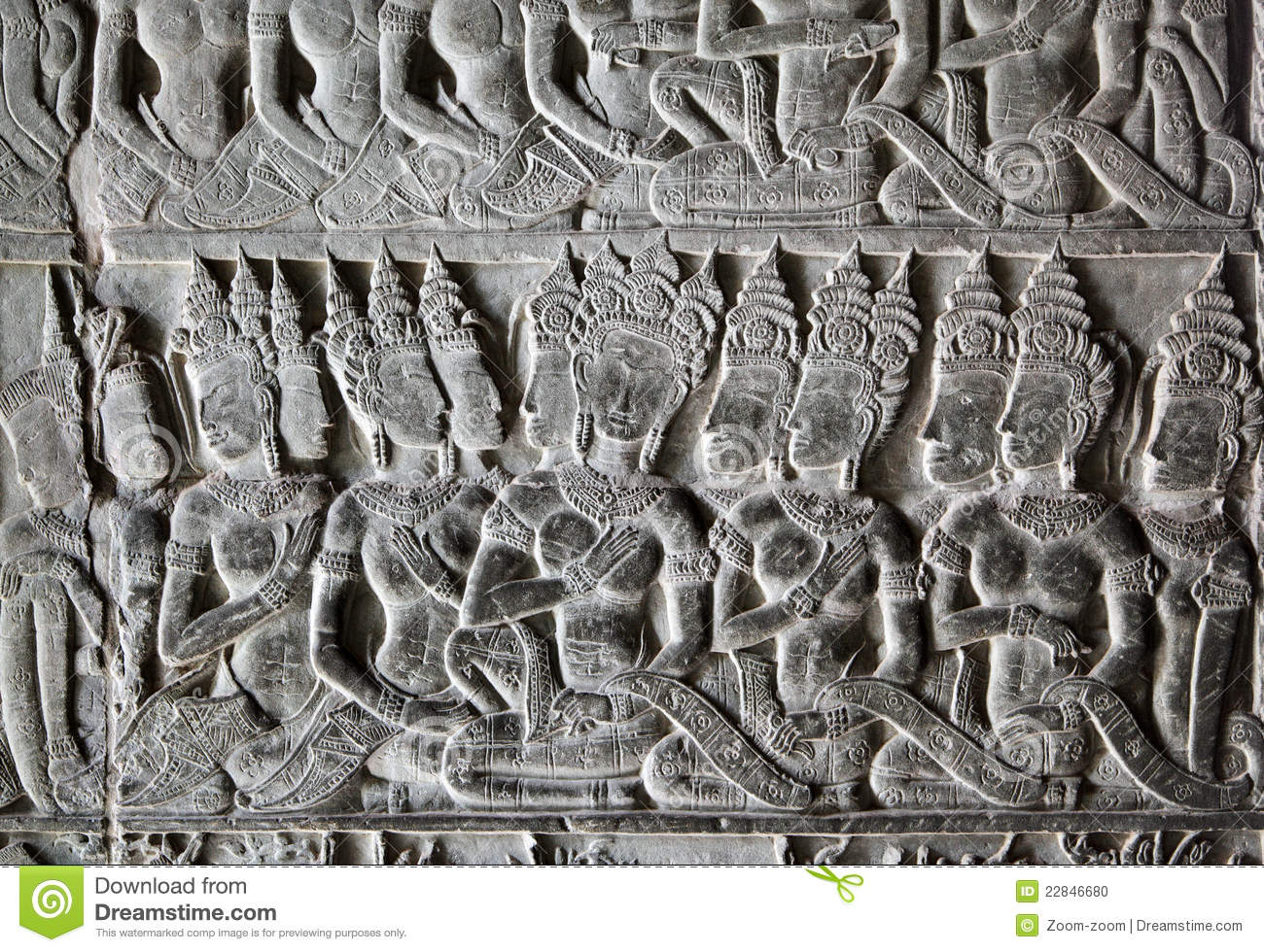 Khmer stone carving stock photo image