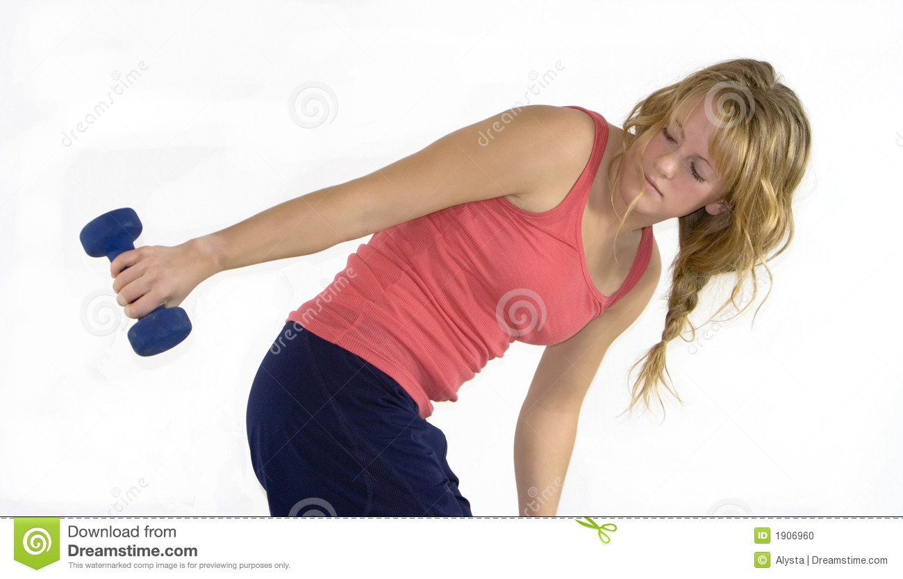 Khollie Working Out With Weights A10 Stock Photo - Image ...