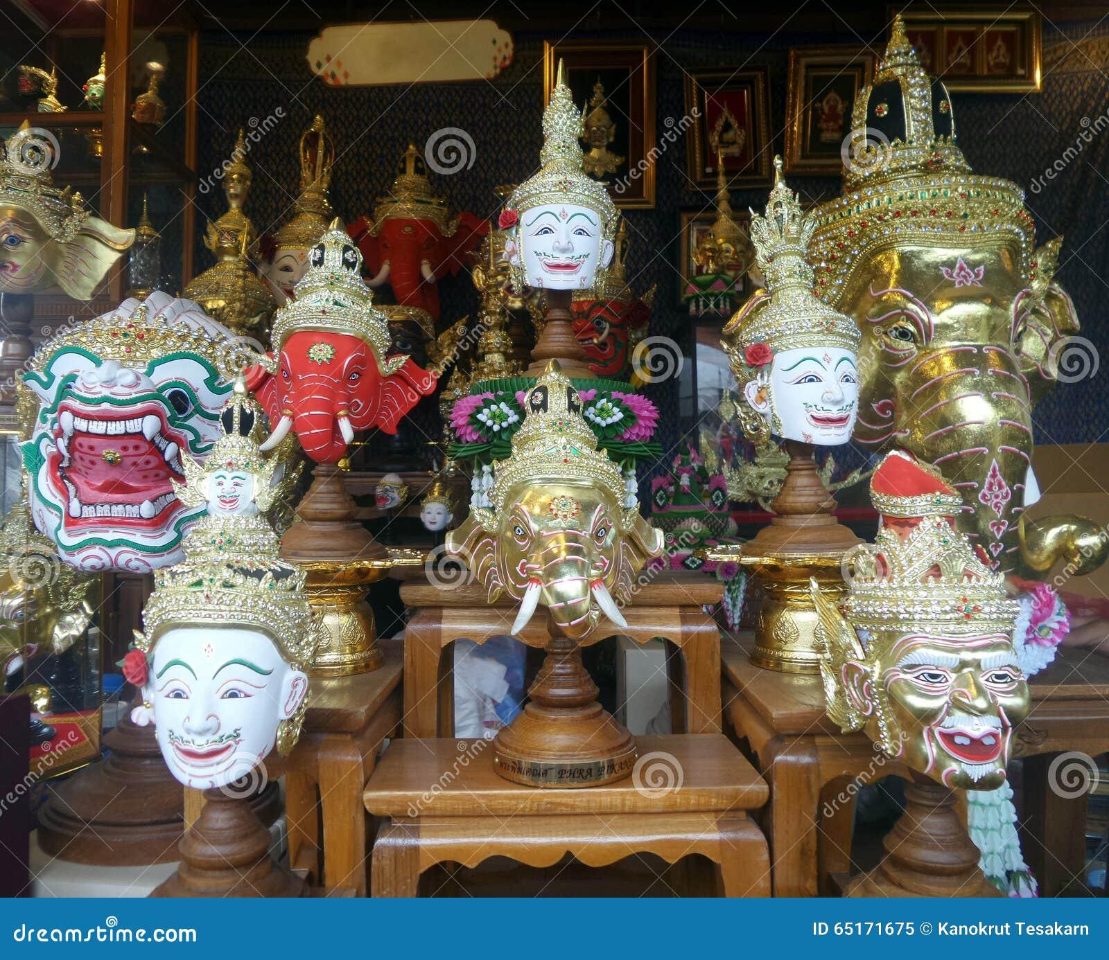 Khon actor mask stock image  Image of masked, fibre, dance