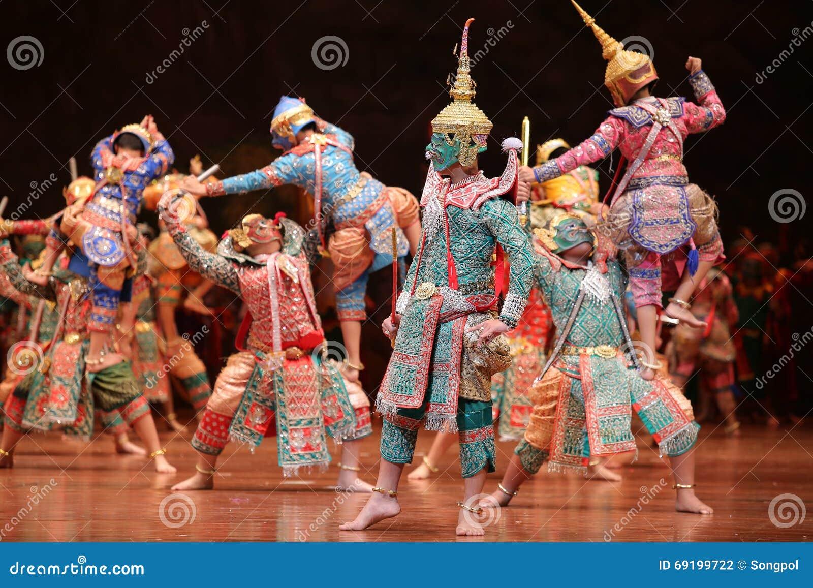 Khon, Dance Drama From Thailand  Stock Photo - Image of