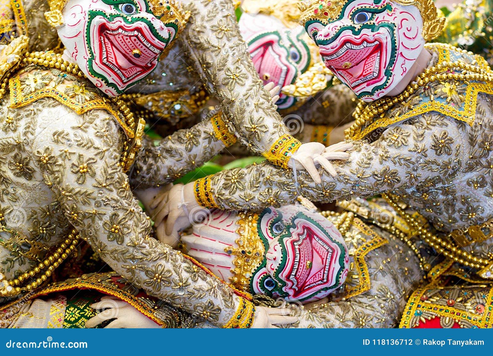d60da29a4c5cb4 Khon `Hanuman` Character In Ramayana Story Editorial Photography ...