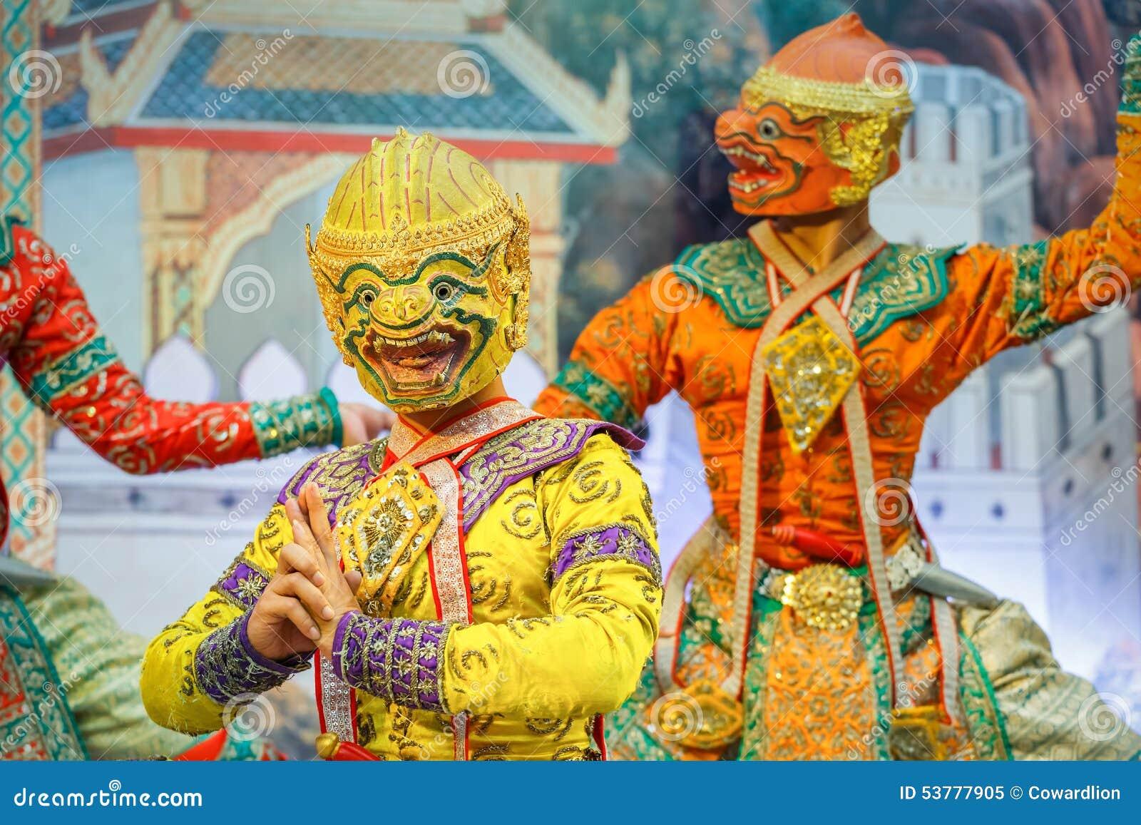 Khon - Tajlandzki Tradycyjny Maskowy taniec