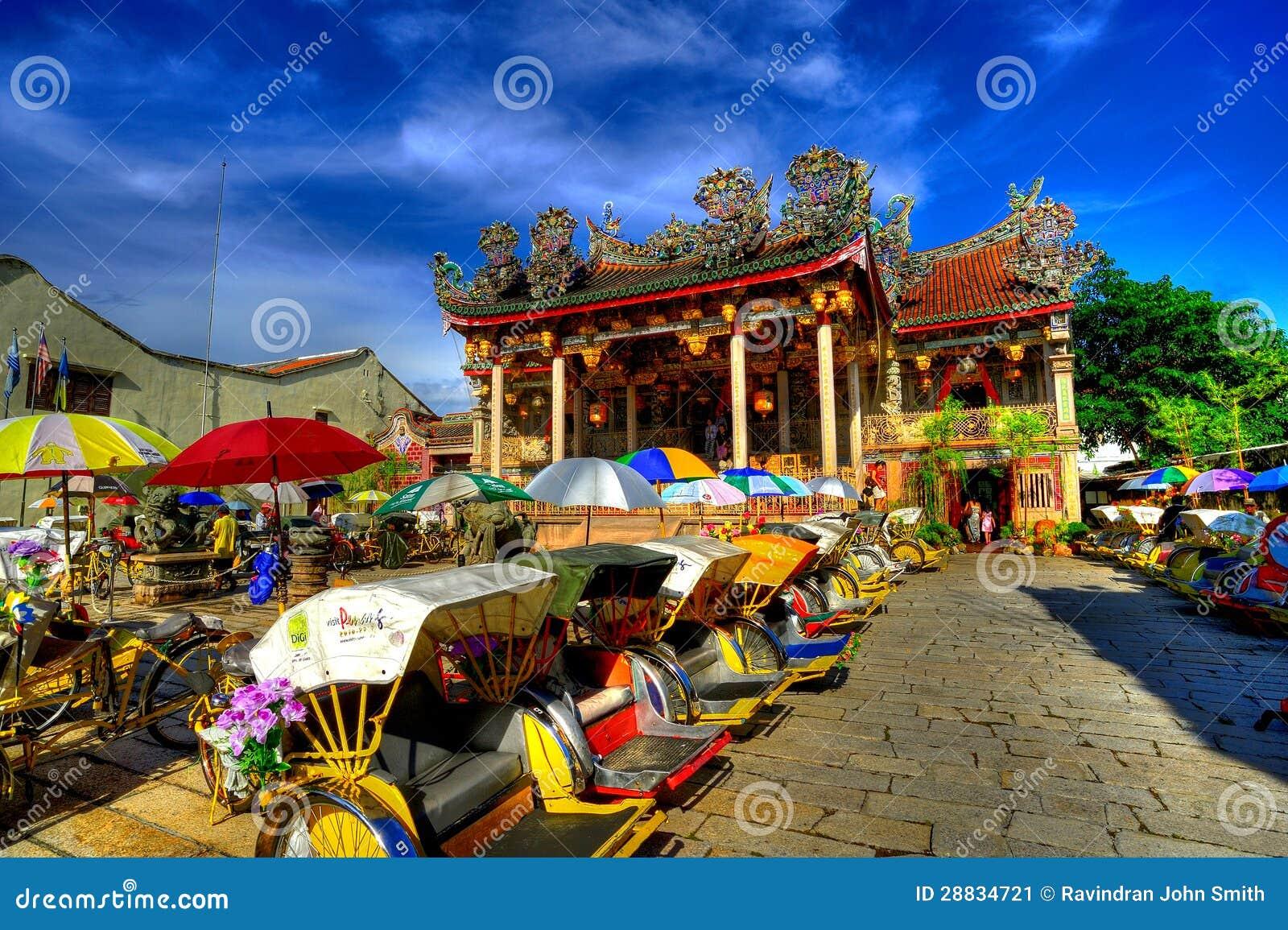 Khoo Kongsi tempel i HDR