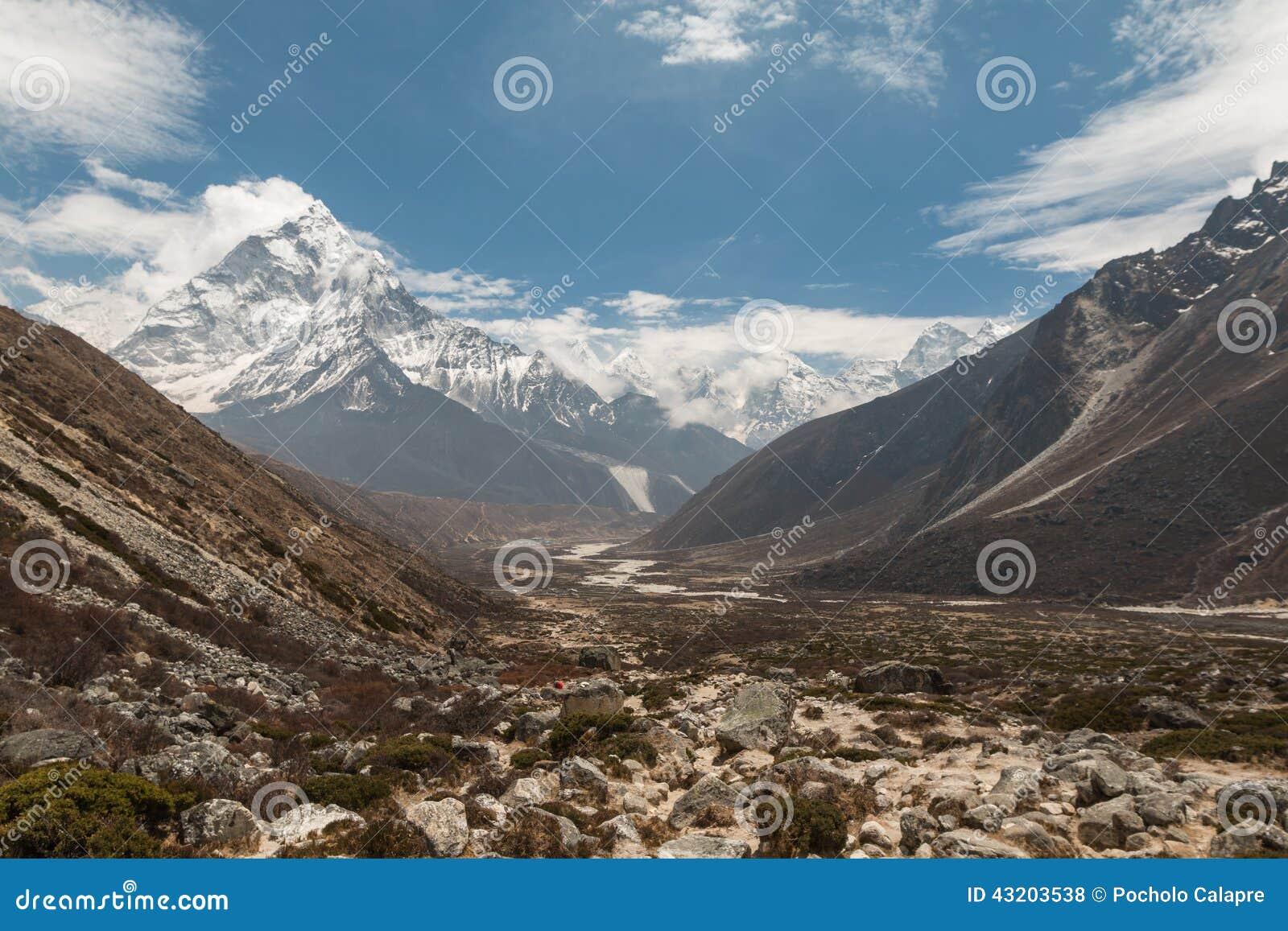 Download Khumbu Region I Himalayas Nepal Arkivfoto - Bild av anhydrous, everest: 43203538