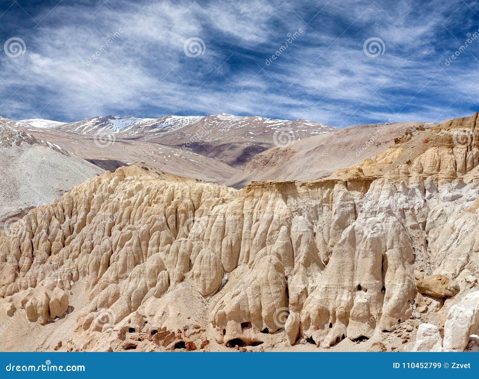 Khyunglun grottor i Garuda Valley, västra Tibet