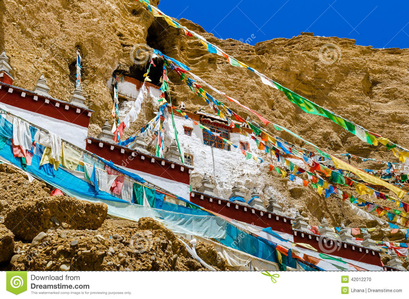 Khyunglung Caves In The Garuda Valley, Stock Photo