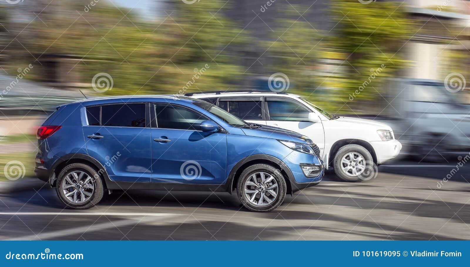 kia blue car stock image image of white large small 101619095
