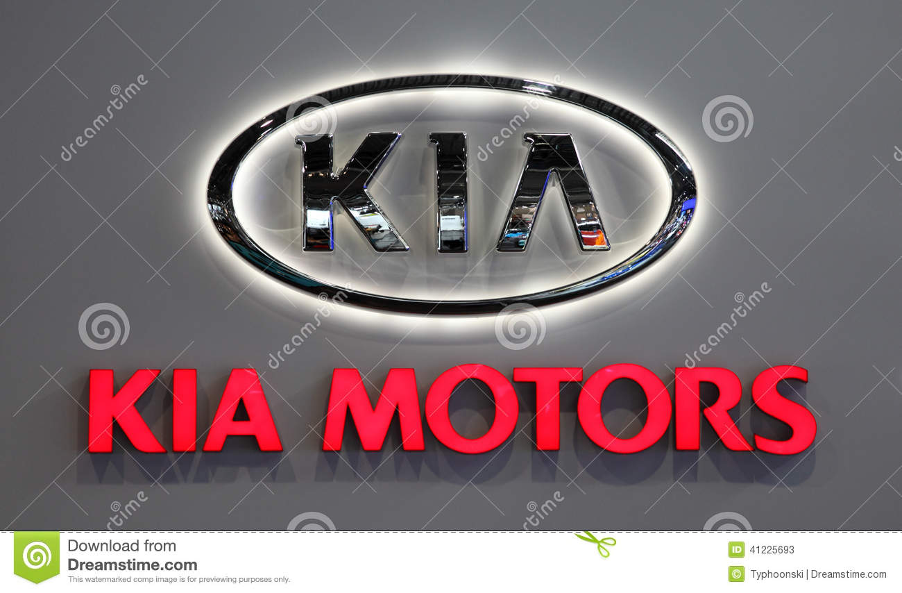 Kia Motors Company Logo Editorial Stock Photo Image Of Logo 41225693
