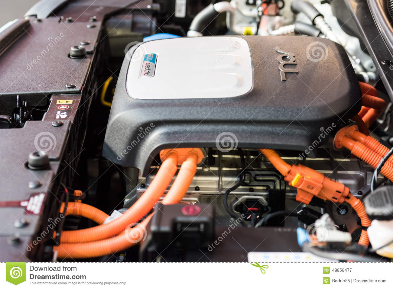 Kia Soul Ev Electric Car Engine Editorial Photography Image