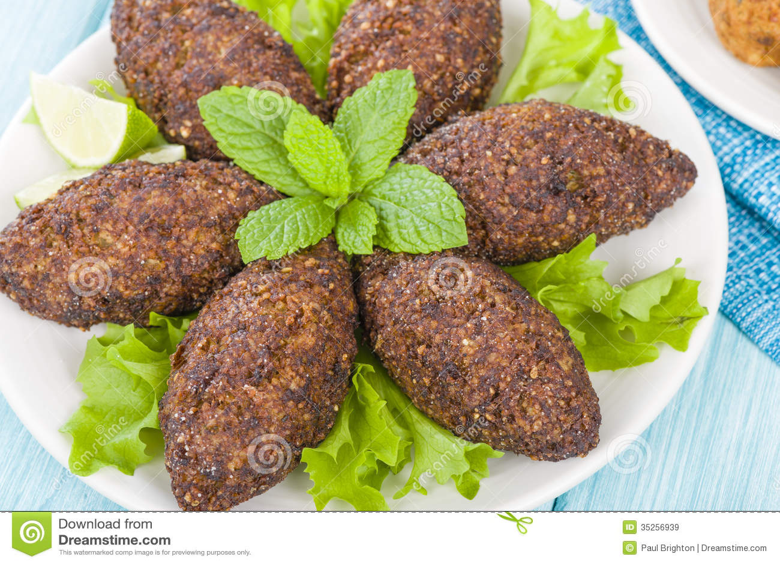 Lebanese food kibbe