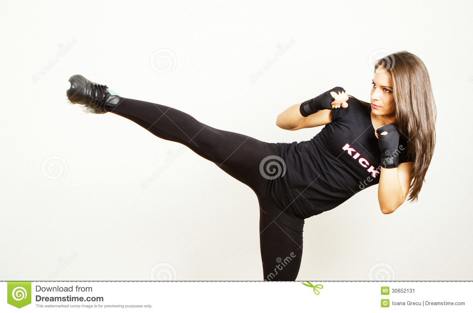 kick boxing young woman stock image image 30652131 martial arts clip art female martial arts clip art free download