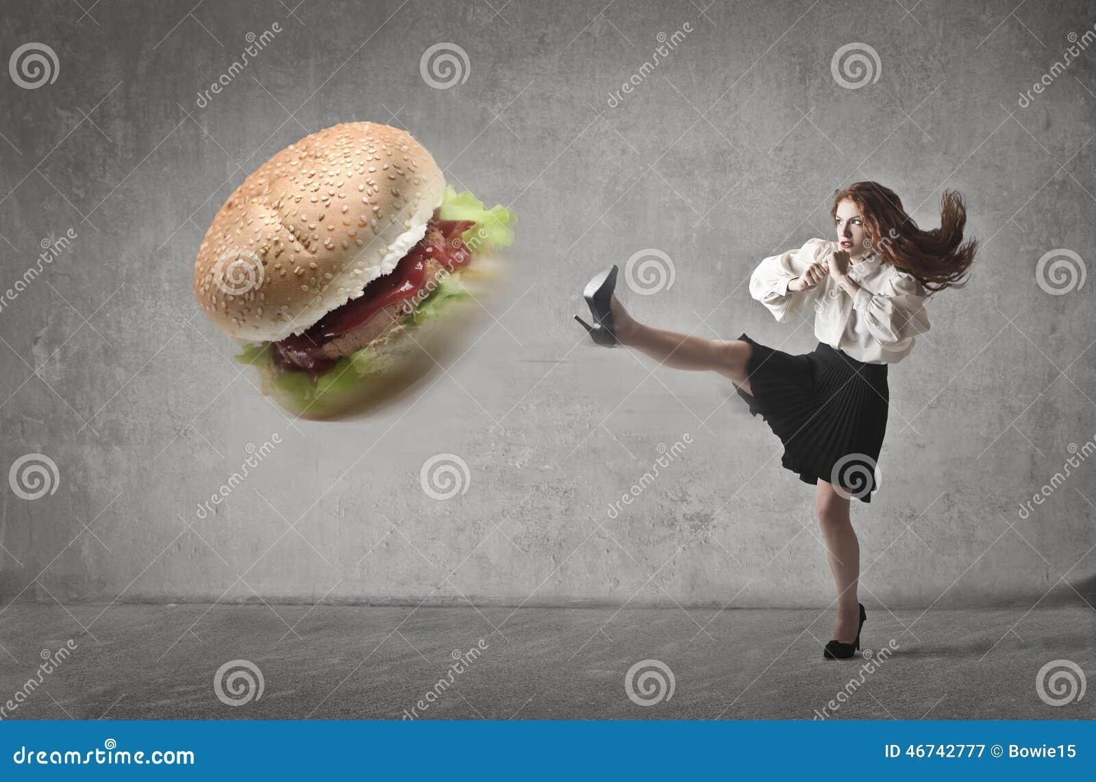 Kicking the hamburger