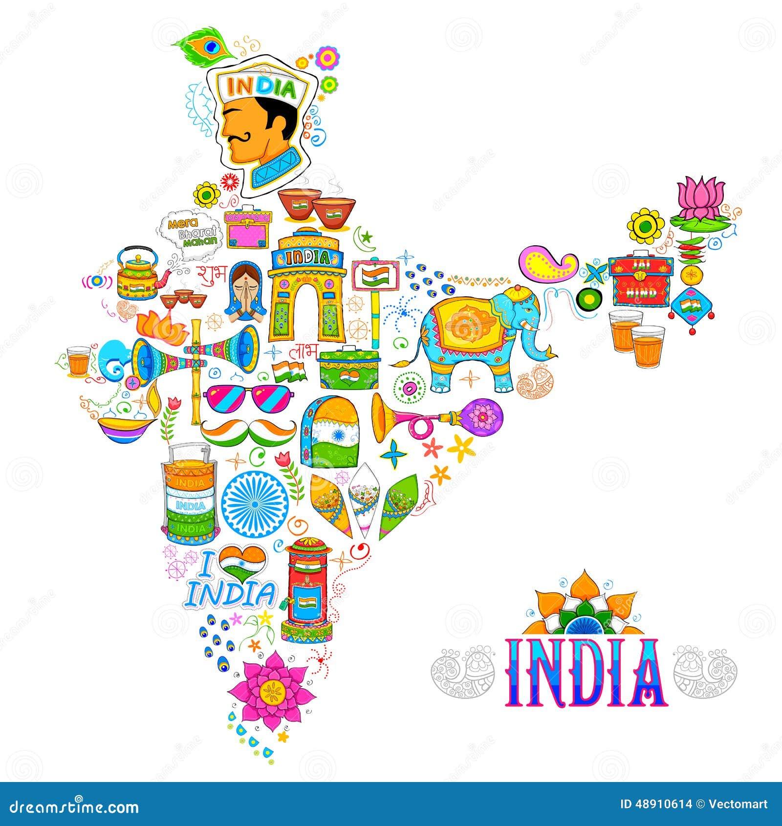Kicz sztuka India mapa