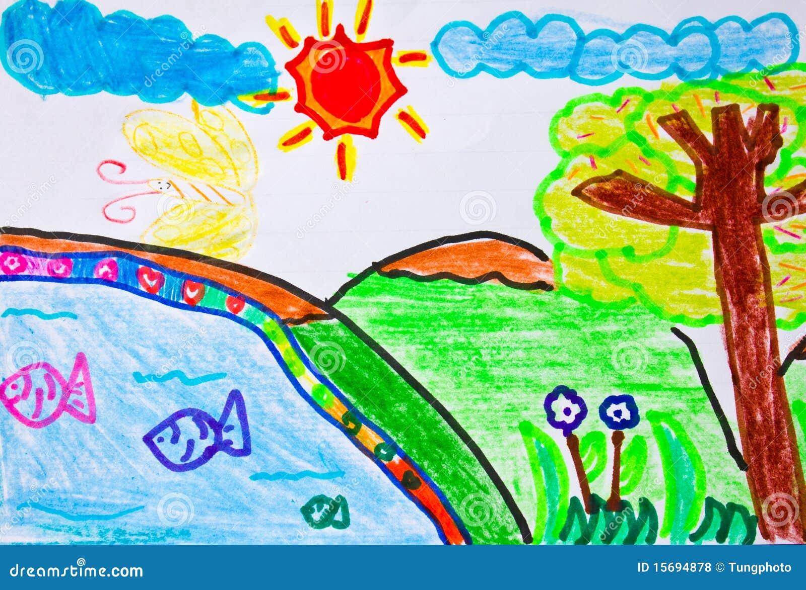 Kid Art Royalty Free Stock Photos Image 15694878