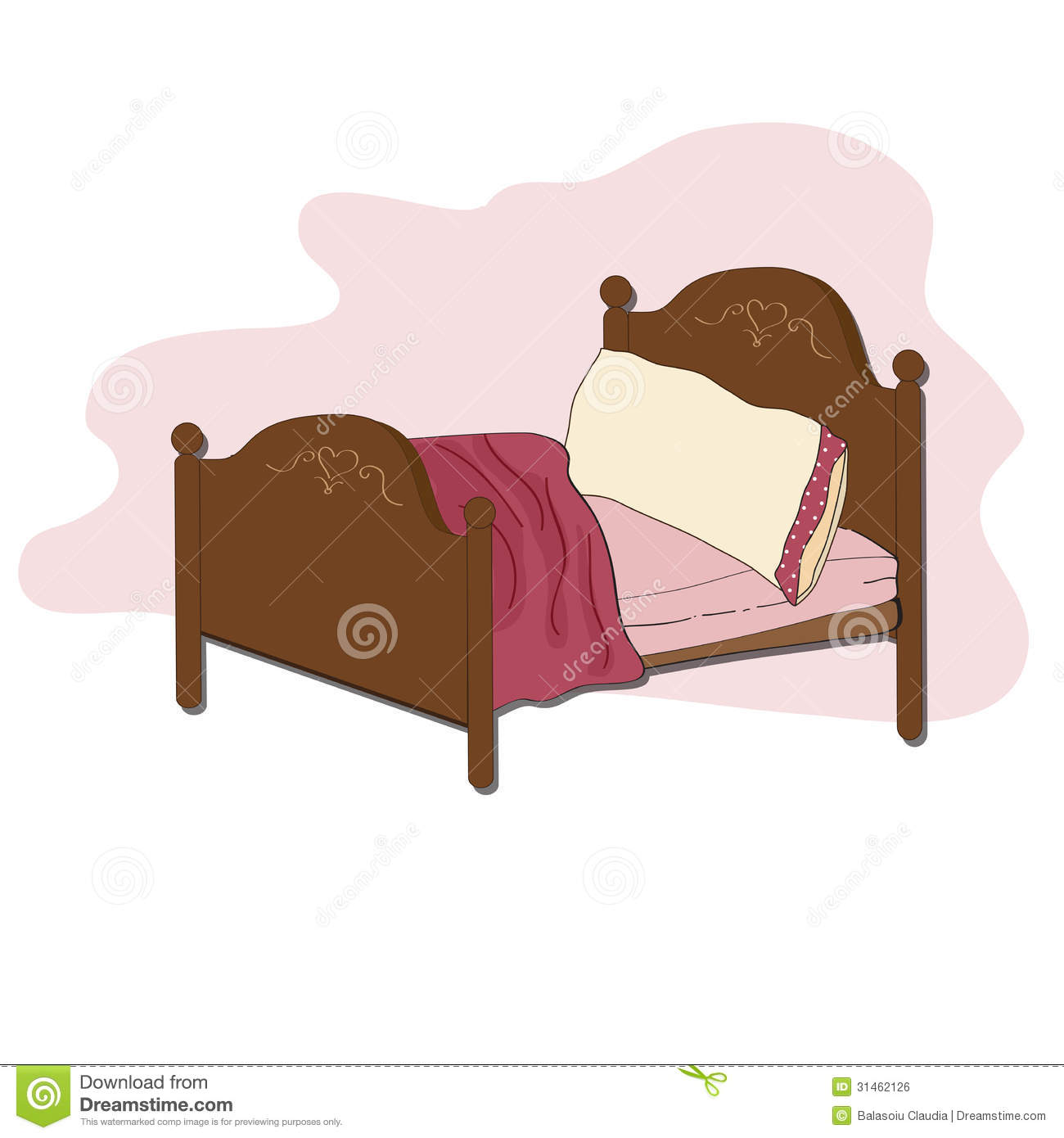 illustration Cartoon wooden bed pics, Stock Photos all sites
