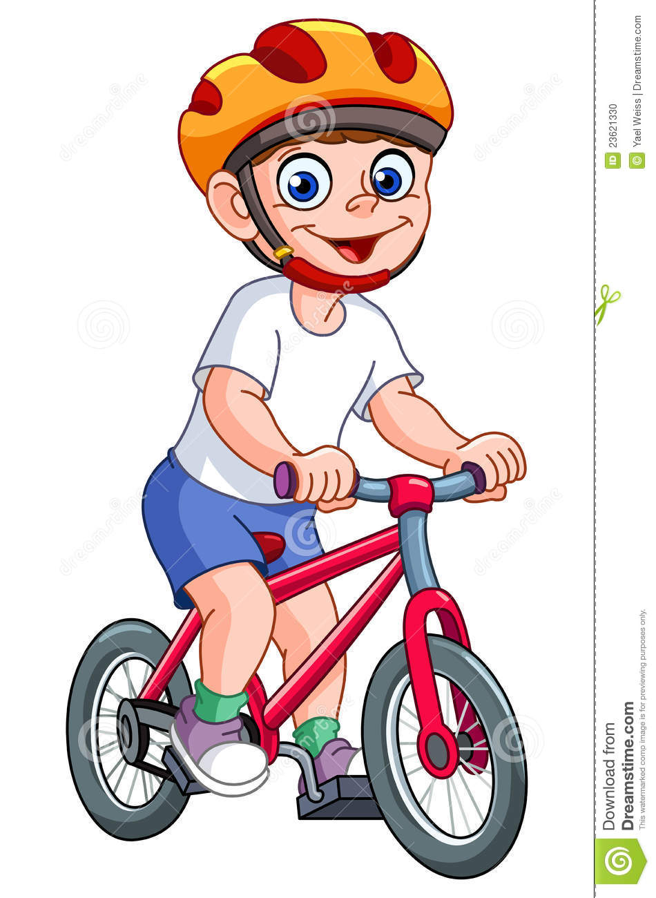 kid on bicycle stock vector illustration of person