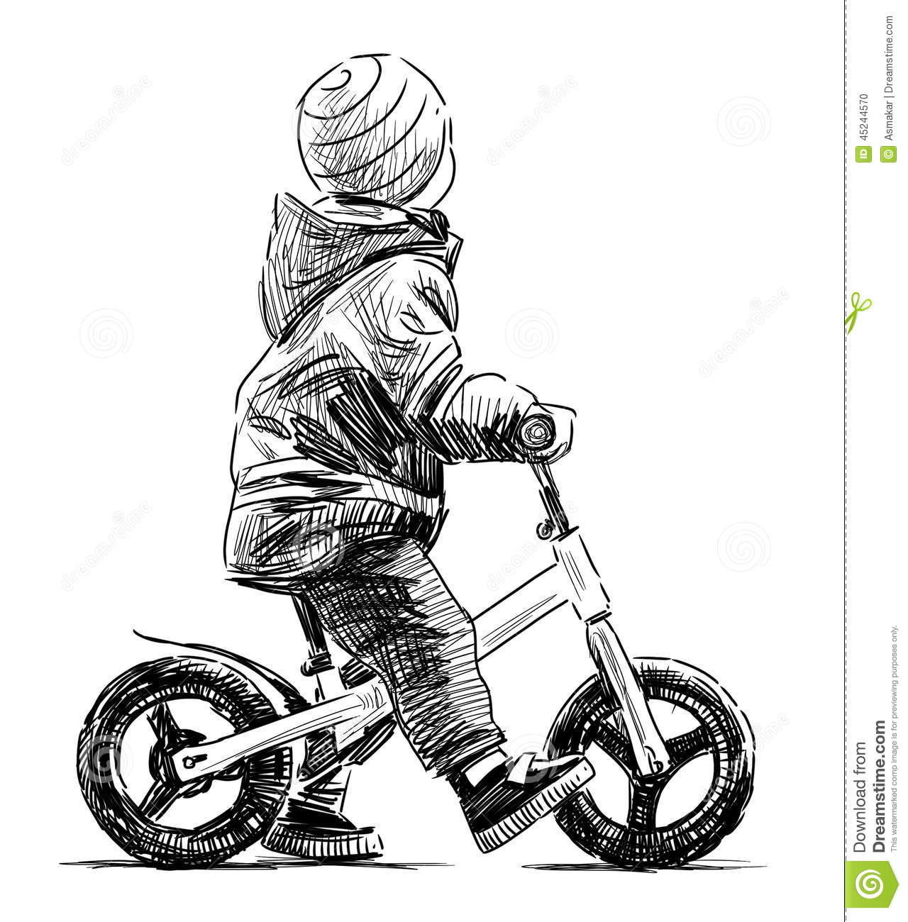 Kid On The Bike Stock Photo Image Of Contemporary Outdoor 45244570