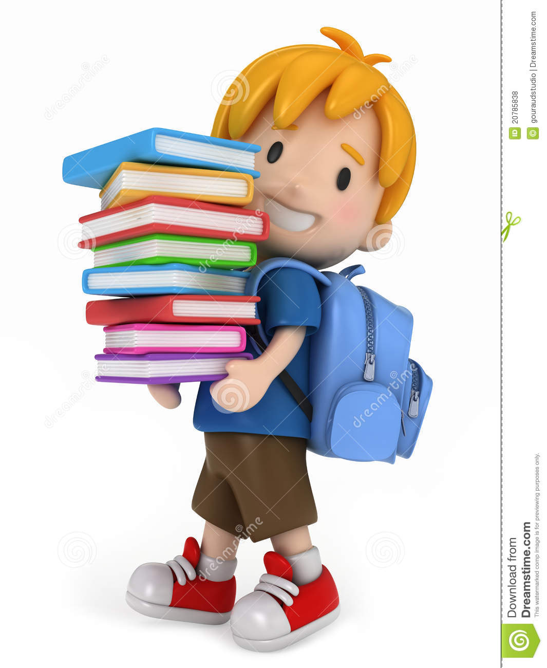 kid with books - Kid Free Books