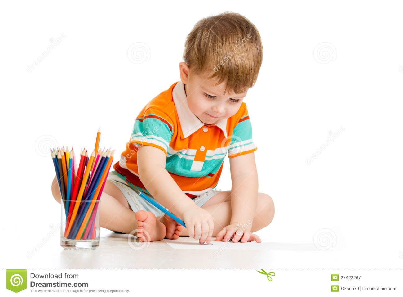 royalty free stock photo download kid boy drawing with colour