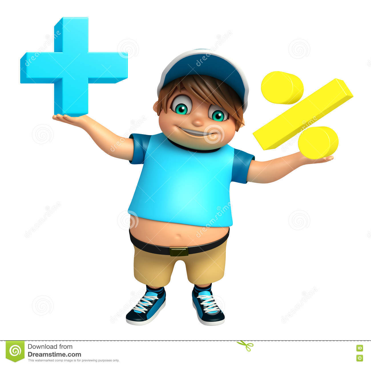 Kid boy with Math sign stock illustration. Illustration of character ...