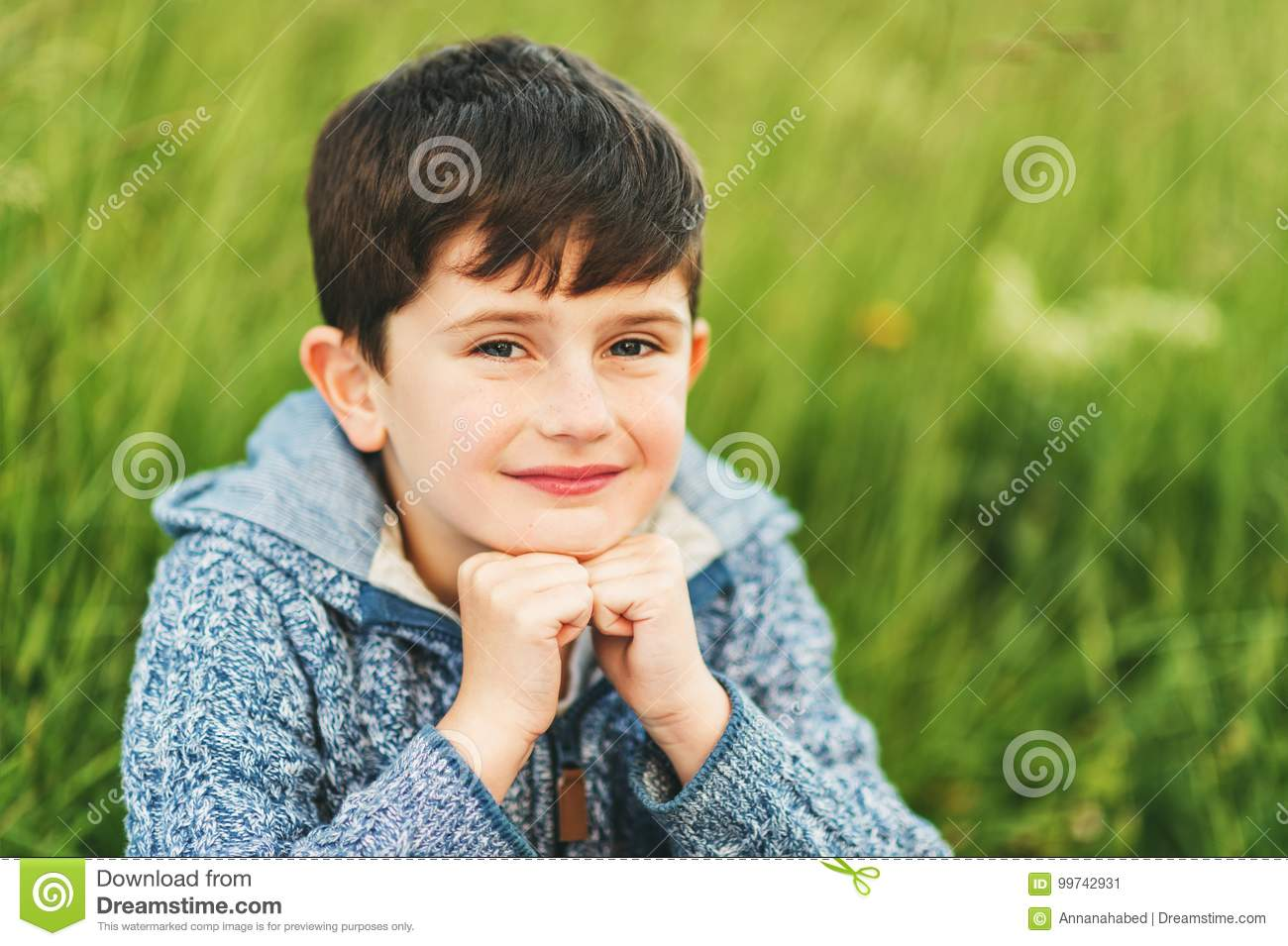 Kid Boy Of 6 Year Old Stock Image Image Of Caucasian