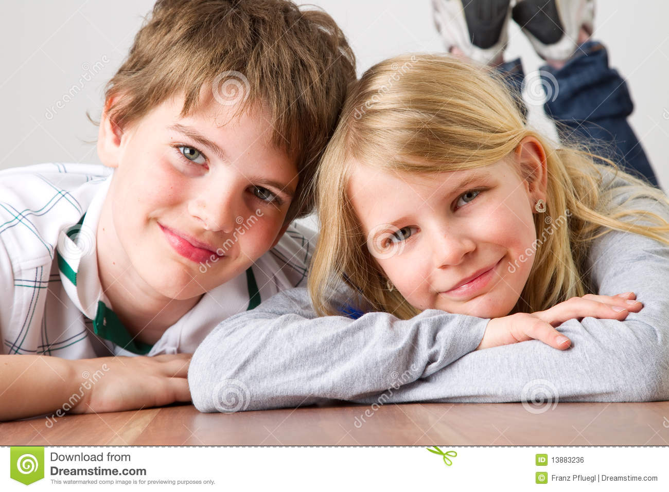 Kid Brother And Sister Royalty Free Stock Image - Image: 13883236
