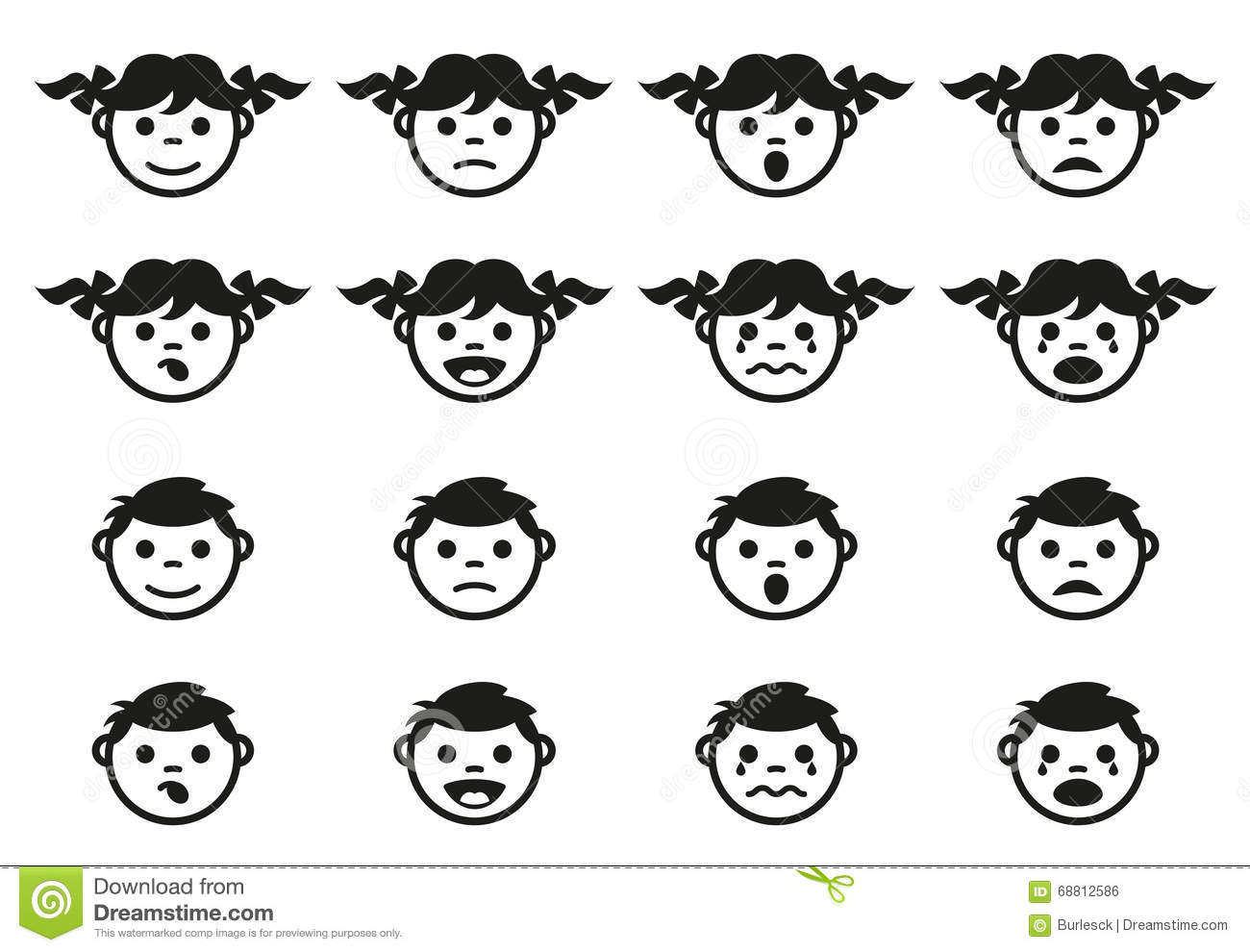 Vector symbols of man woman and a child stock vector illustration kid child and baby faces avatars symbols set royalty free stock image biocorpaavc Images