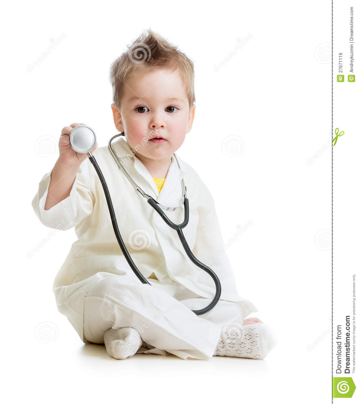 doctor kid Kid or child playing doctor with stethoscope
