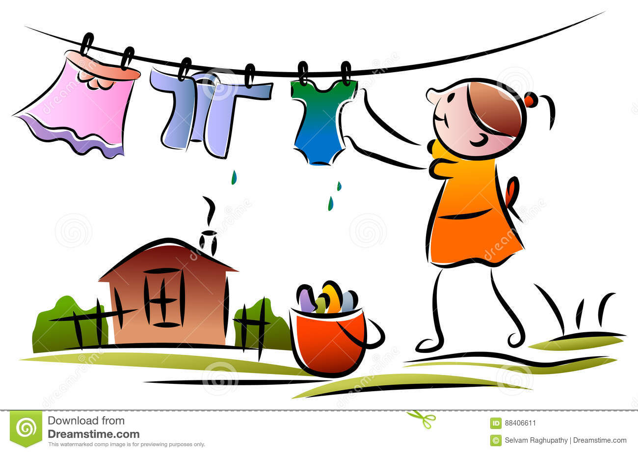 clothesline stock illustrations 2 048 clothesline stock rh dreamstime com baby shower clothesline clipart