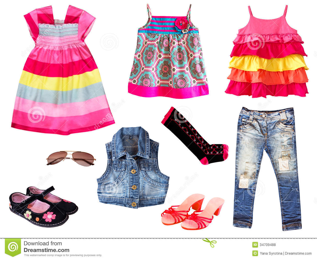 b961c6d11a8a Kid clothing.Isolated. stock photo. Image of pink