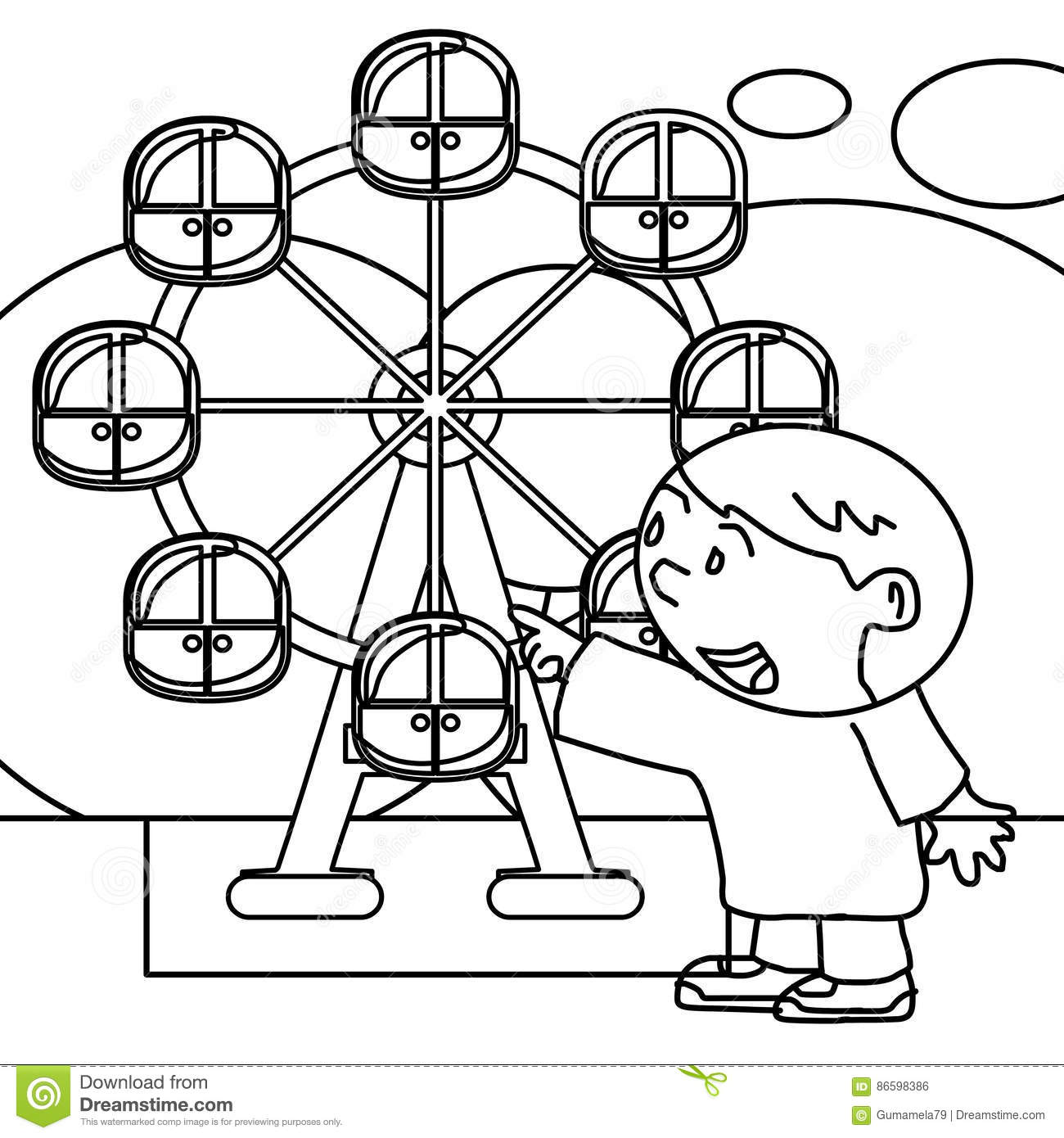Kid Coloring Page Stock Illustration Illustration Of Answer 86598386