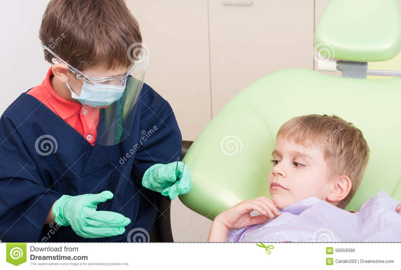 Doctor and patient having fun