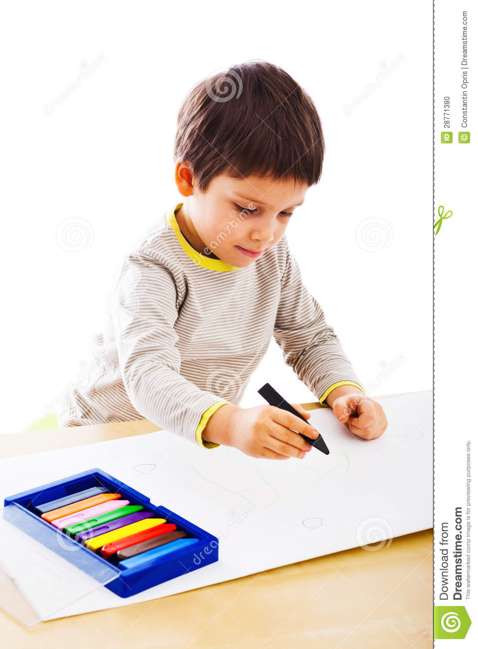 kid drawing in colors - Kid Drawing Picture