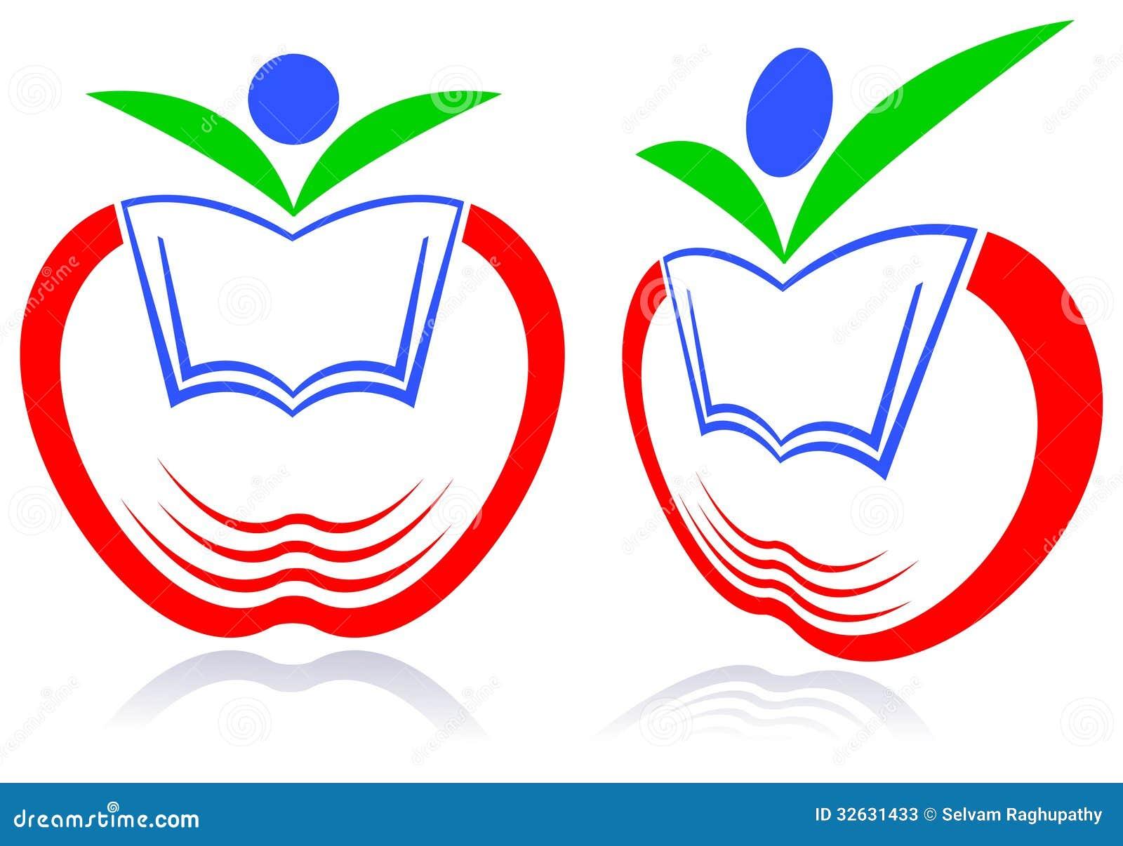 Line Art Logo Design : Kid education logo stock vector image of adorable health
