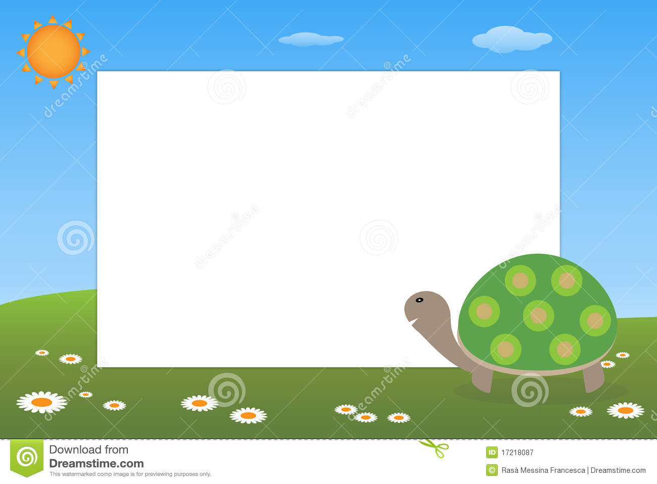 Kid Frame - Turtle Royalty Free Stock Photography - Image