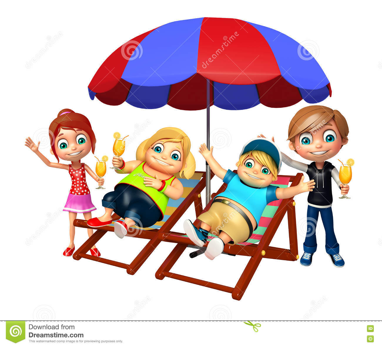 Download Kid Girl And Kid Boy With Relaxing On Beach Chair Stock Illustration - Illustration of  sc 1 st  Dreamstime.com & Kid Girl And Kid Boy With Relaxing On Beach Chair Stock Illustration ...