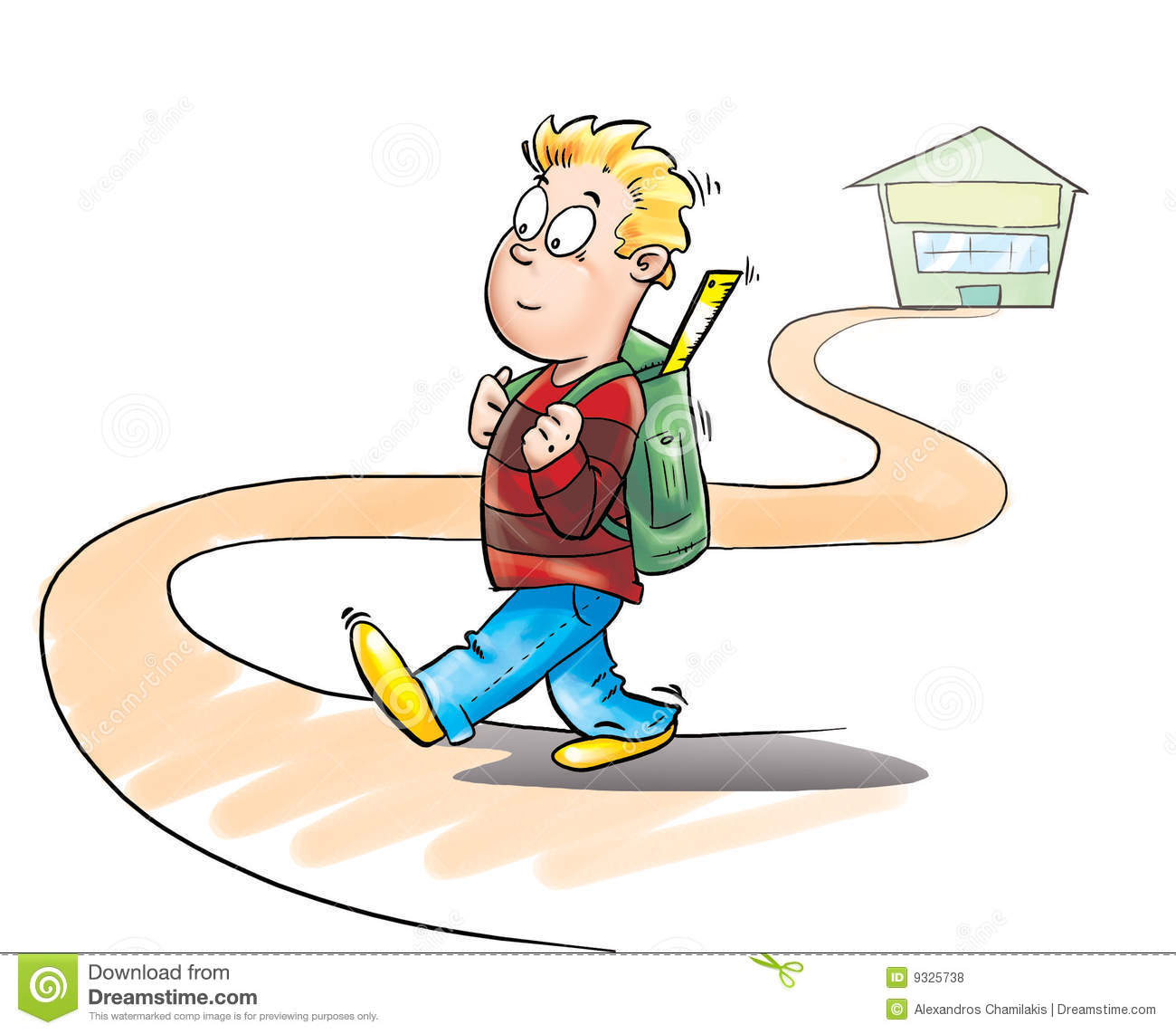 kid going to school stock illustrations 563 kid going to school