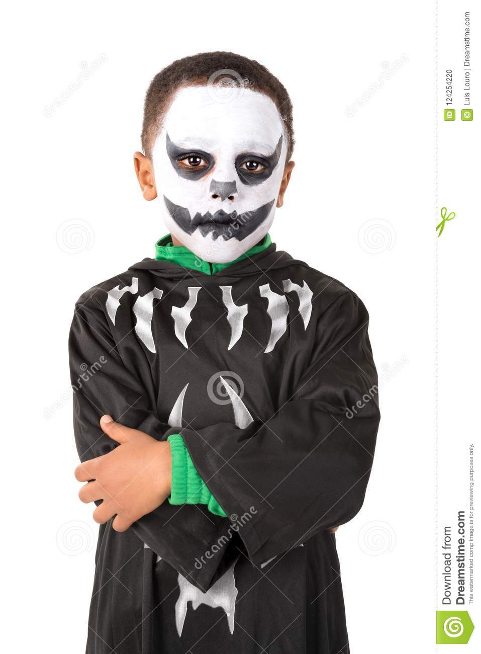 Halloween Makeup For Kids Boy.Kid In Halloween Costume Stock Photo Image Of Autumn