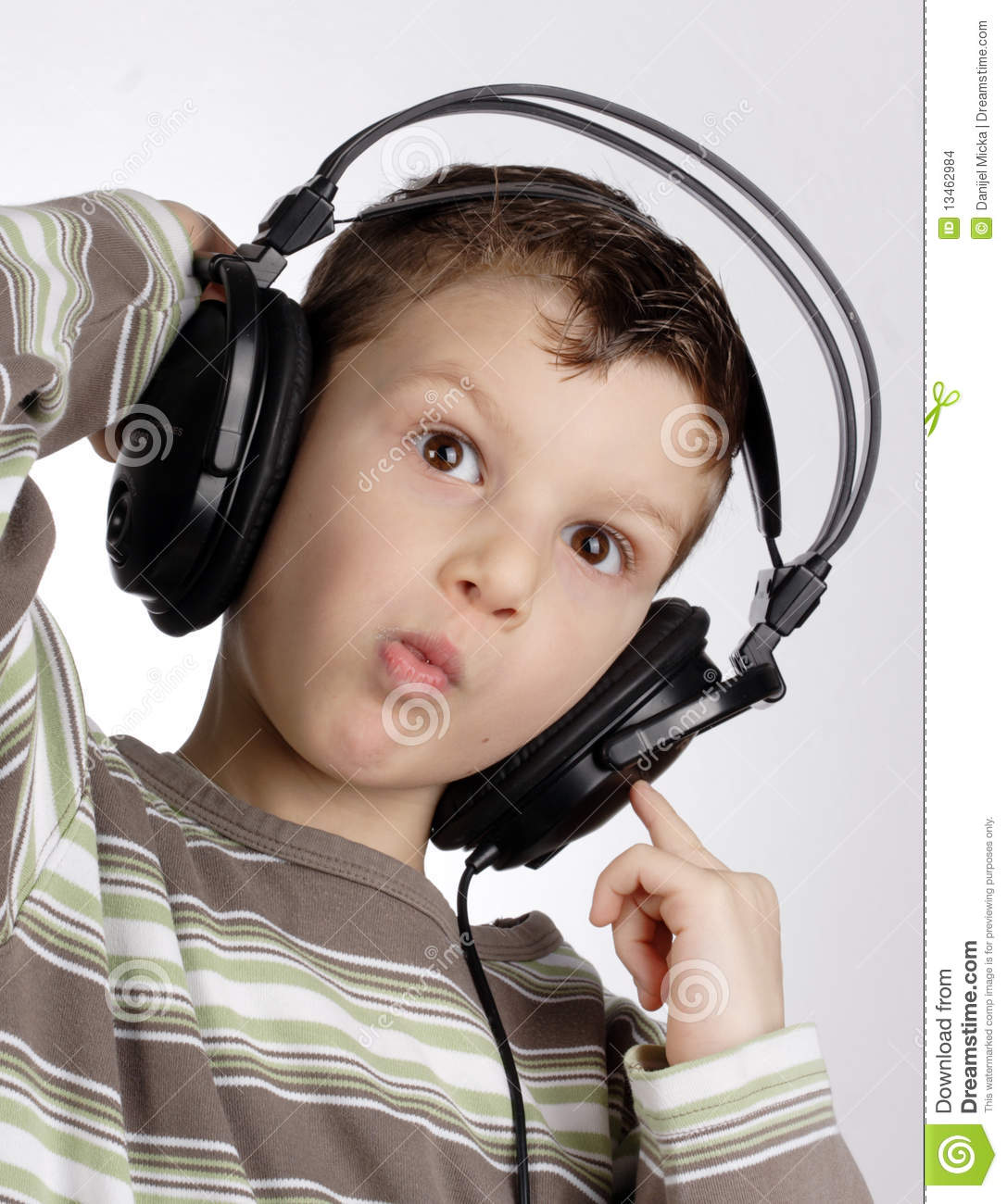 Kid with headset