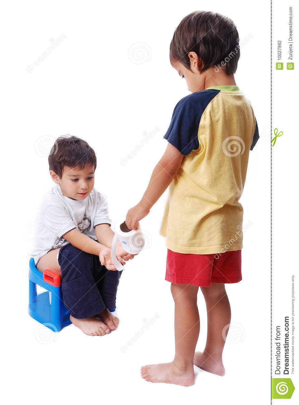 Kids being nice to each other in school