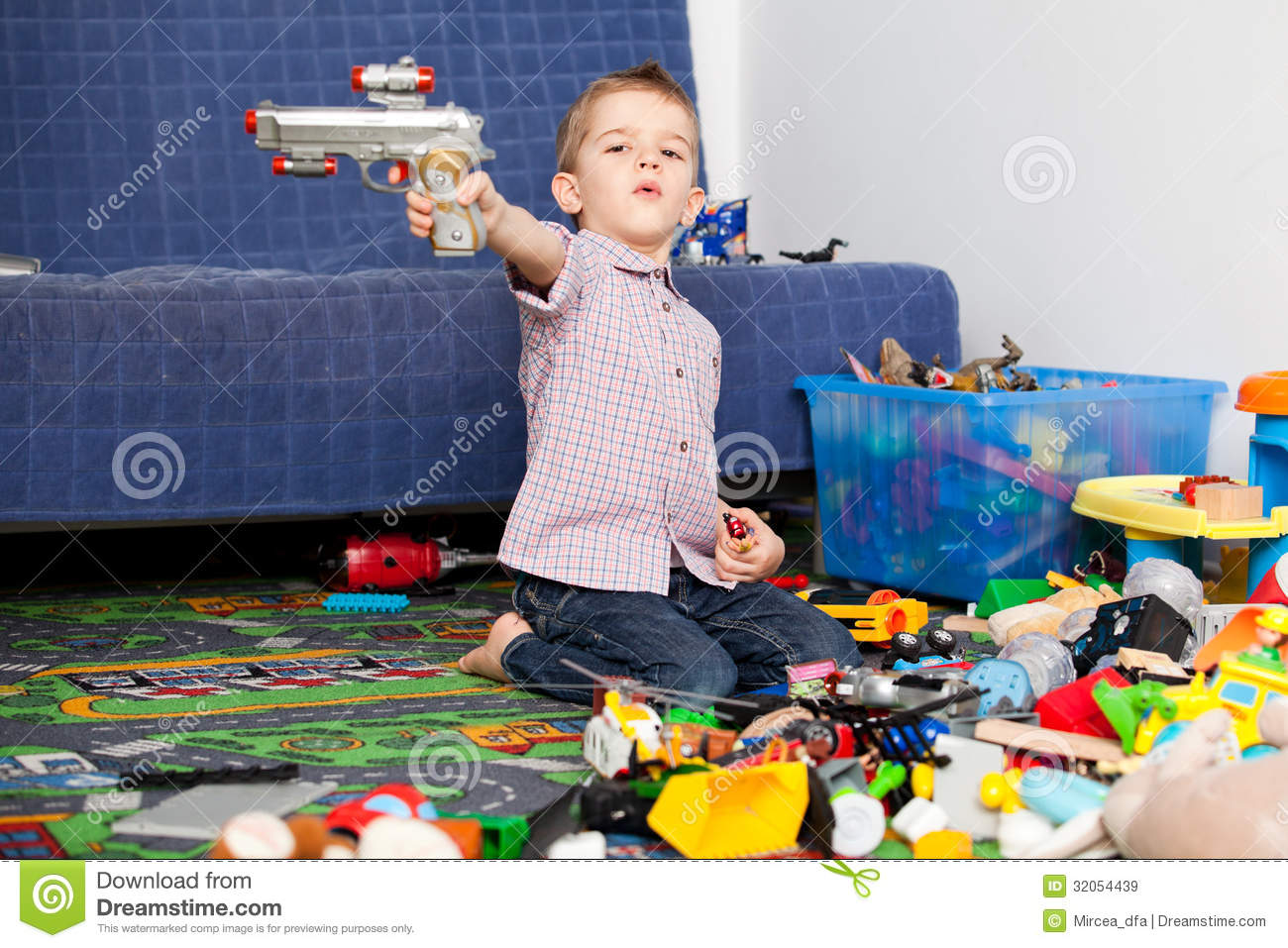 Toys For 5 Year Boy : Kid at home playing royalty free stock images image