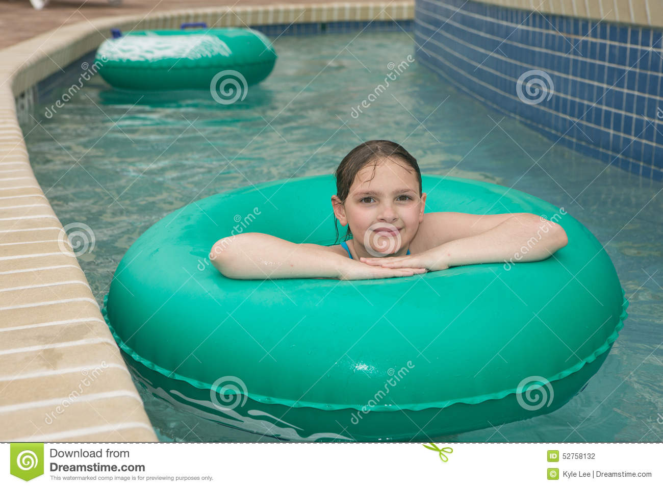 Kid on a lazy river